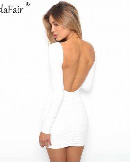 Vestido sexy sin espalda