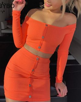 Vestido de dos piezas de algodón de botones