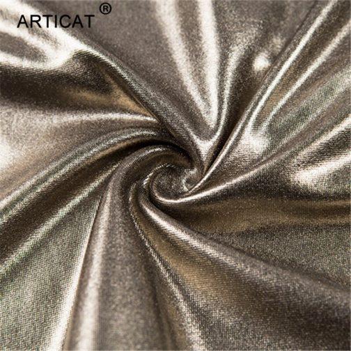 Vestido de contraste plata y oro 5