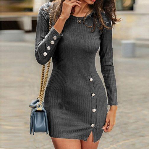 Vestido corto de manga larga  1