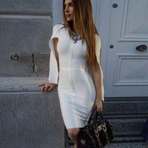Vestido elegante de mangas 1