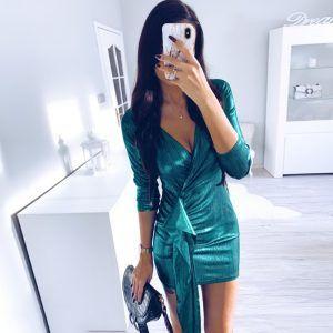 Vestido brillante corto