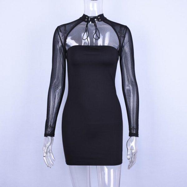 Vestido con transparencias de manga larga 5
