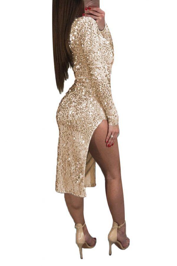 Vestido de fiesta de lentejuelas 4