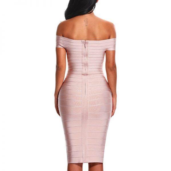 Vestido bandage sin hombros 3