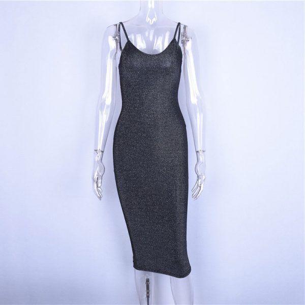 Vestido elegante brillante sensual y largo 5