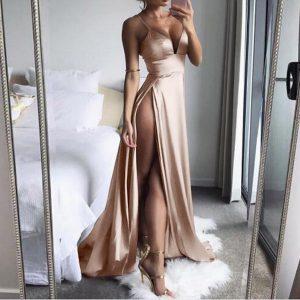 Vestido abierto largo