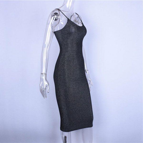 Vestido elegante brillante sensual y largo 6