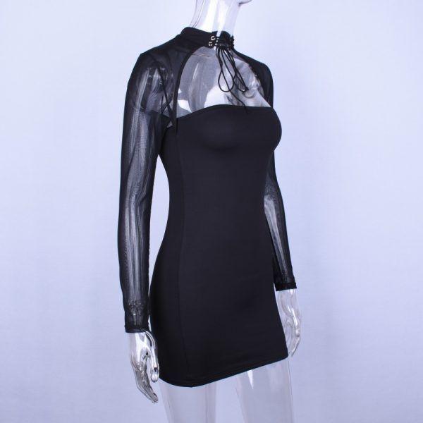 Vestido con transparencias de manga larga 6