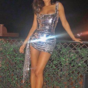 Vestido brillante de fiesta