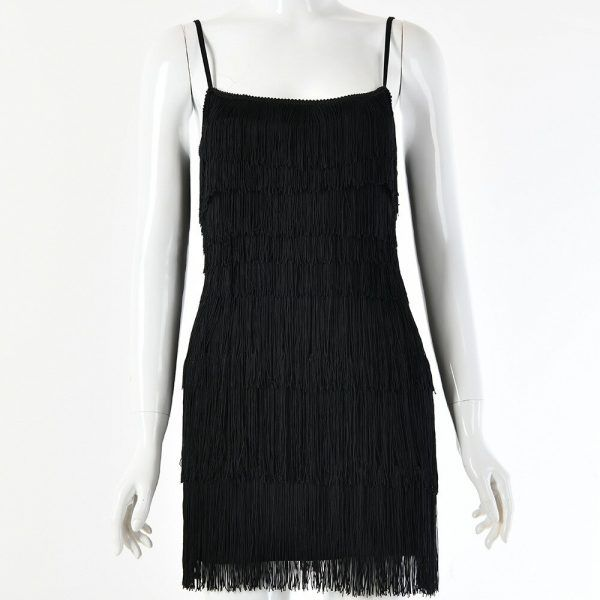 Vestido de flecos corto 5