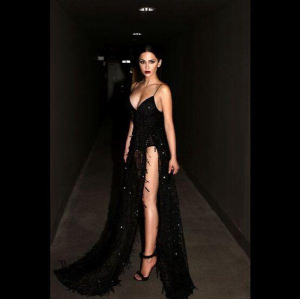 Vestido de fiesta sexy elegante largo con flecos y lentejuelas 2