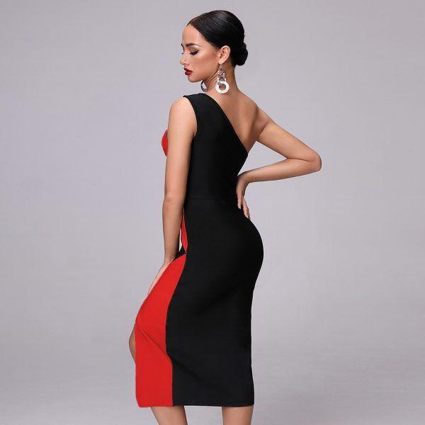 Vestido desigual de un hombro 6