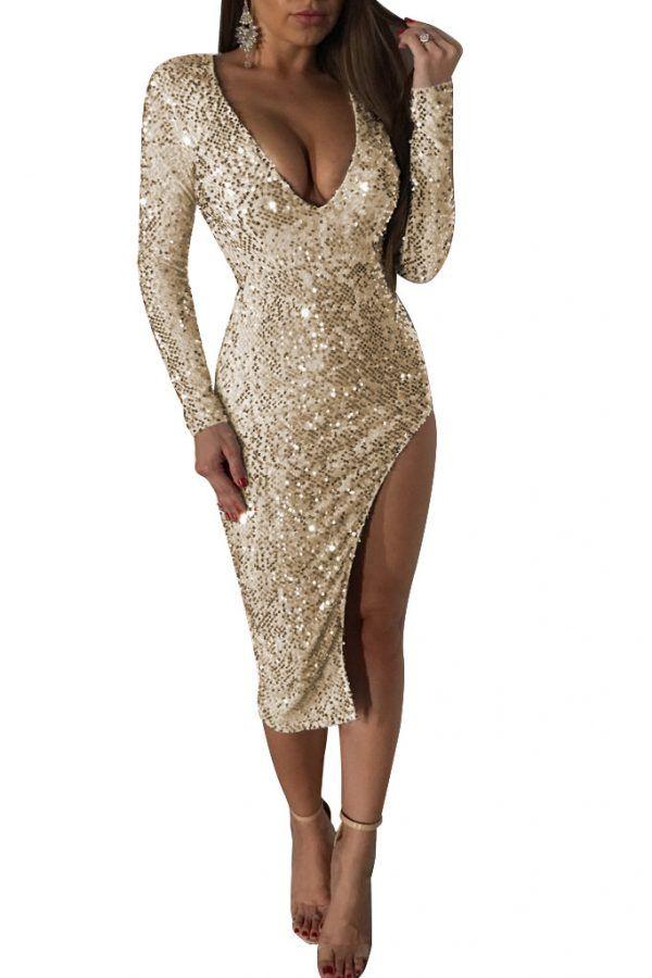 Vestido de fiesta de lentejuelas 2