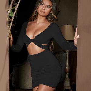 Vestido escote en nudo