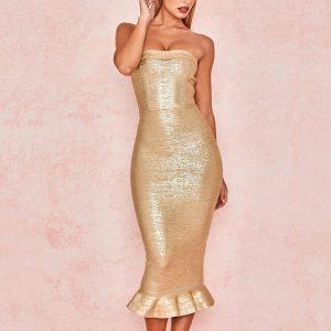 Vestido dorado 1