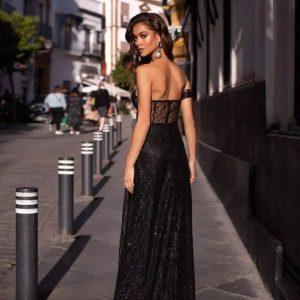Vestido elegante de purpurina